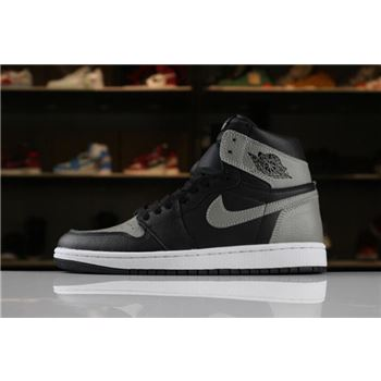 Men's Size Air Jordan 1 Retro High OG Shadow Black/Medium Grey-White 555088-013