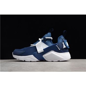 check out 23d79 9e560 Men s and Women s Nike Air Huarache City Low Navy White Running Shoes AH6804 -400