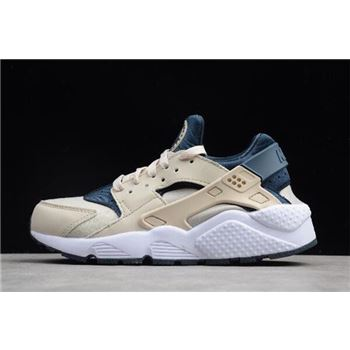 e5c02800a167 WMNS Nike Air Huarache Run Light Orewood Brown Armory Navy-White 634835-114