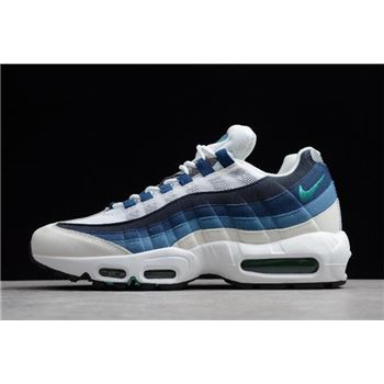 Nike Air Max 95 OG White/Emerald Green-Court Blue-Slate 554970-131