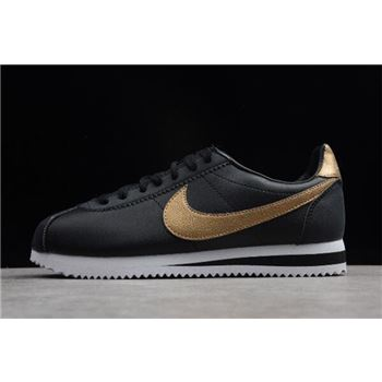 Nike Classic Cortez SE Black/metallic Gold-White 902801-002