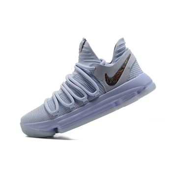 Nike KD 10 Anniversary Faint Blue/Multi Men's Size 897817-900
