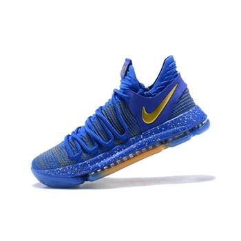 Nike KD 10 Celebration Finals PE Racer Blue/Metallic Gold 897815-403