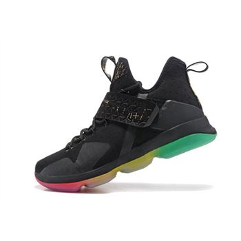 Nike LeBron 14 Rise and Shine Black/Multi-Color Men's Basketball Shoes