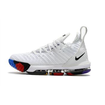 Nike LeBron 16 White/Multi-Color Men's Size For Sale
