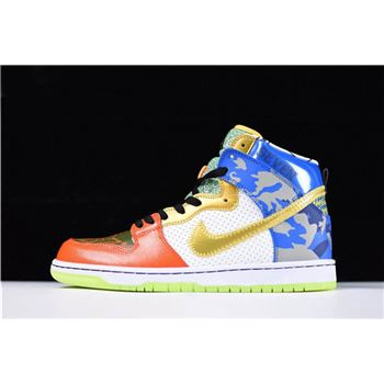 Mens and WMNS Nike SB Dunk High What The Doernbecher Free Shipping
