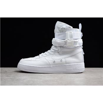 Mens and WMNS Nike SF-AF1 High Triple White White/White-White 903270-100