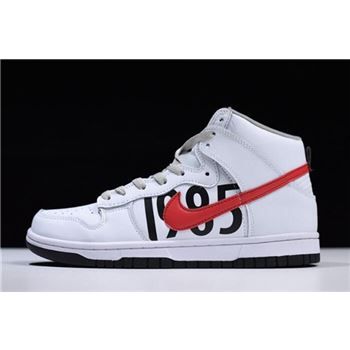 Undefeated x Nike Dunk Lux High White/Black-Infrared 826668-160