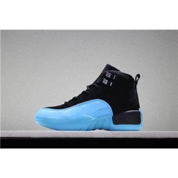 Kid's Air Jordan 12 Gamma Blue Black/Gamma Blue-Gym Red