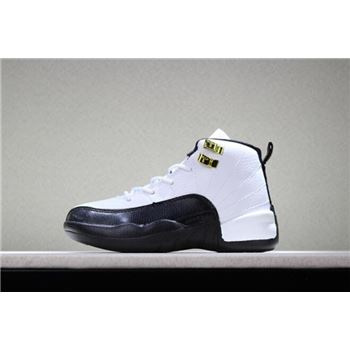 Kid's Air Jordan 12 Taxi White/Black-Taxi