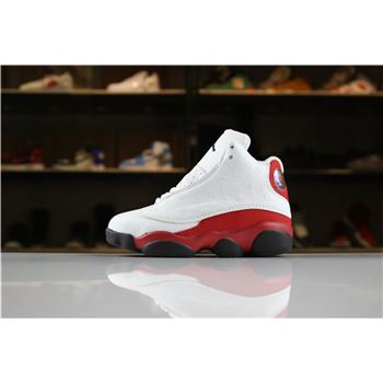 Kid's Air Jordan 13 Retro Chicago White/Black-Team Red For Sale
