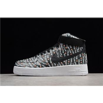 Men's and Women's Nike Air Force 1 High Just Don Black/White-Orange AO5183-001